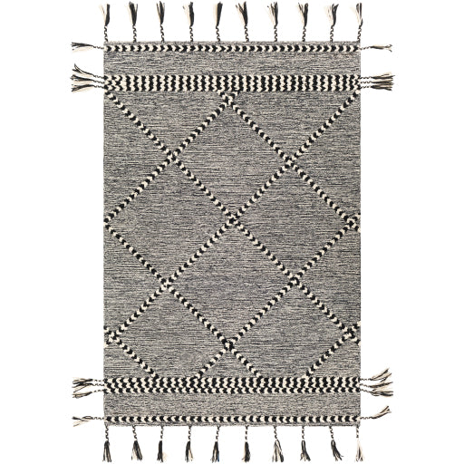 Joanna Farmhouse Black & White Area Rug