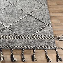 Load image into Gallery viewer, Joanna Farmhouse Black & White Area Rug