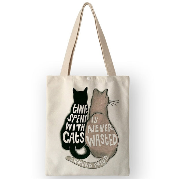 Reusable Canvas Gift Bag - Sublime Feline