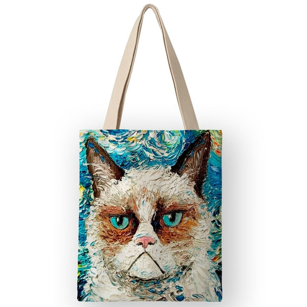 Canvas Cat Tote - Sublime Feline