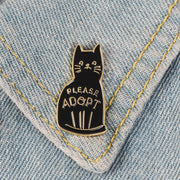 Enamel Pin - Please Adopt - Sublime Feline