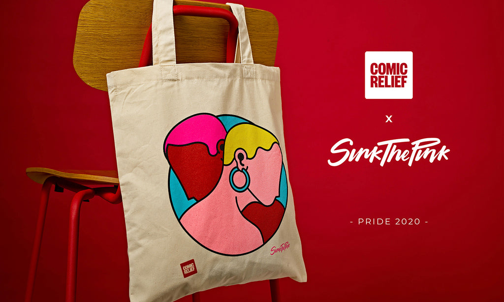 Comic Relief x Sink The Pink Collaboration