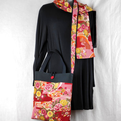 2 way shoulder bag -MIS2 Red - Pac West Kimono