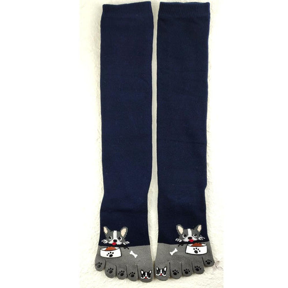 5 toe knee high socks. Cute dogs - Pac West Kimono