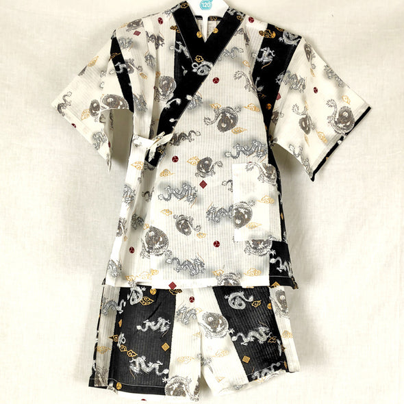 Boys 2pc Jinbei Dragonfly design Black and White