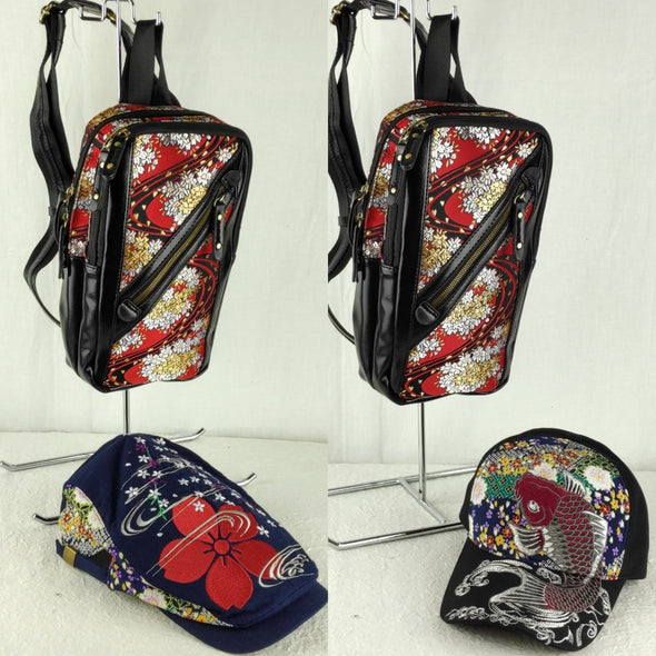 Cool embroidered cross body bag and hat gift set - Pac West Kimono