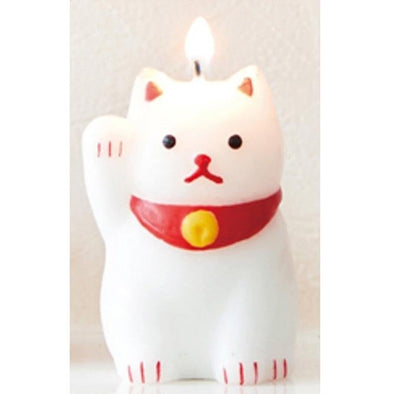 Cute lucky cat candle - Pac West Kimono