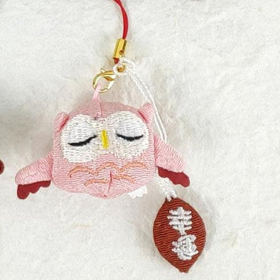 Cute Owl Cell Phone Charm / Key Chain - Pac West Kimono