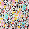 Cute Retro Animal print Japanese Cotton fabric. Panda, bunnies, dears, squirrels, chicks, elephants. 110cm width - Pac West Kimono