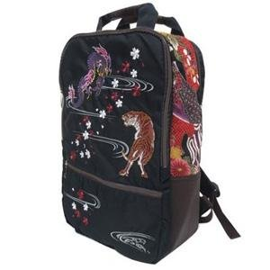Embroidered cool dragon and tiger backpack - Pac West Kimono