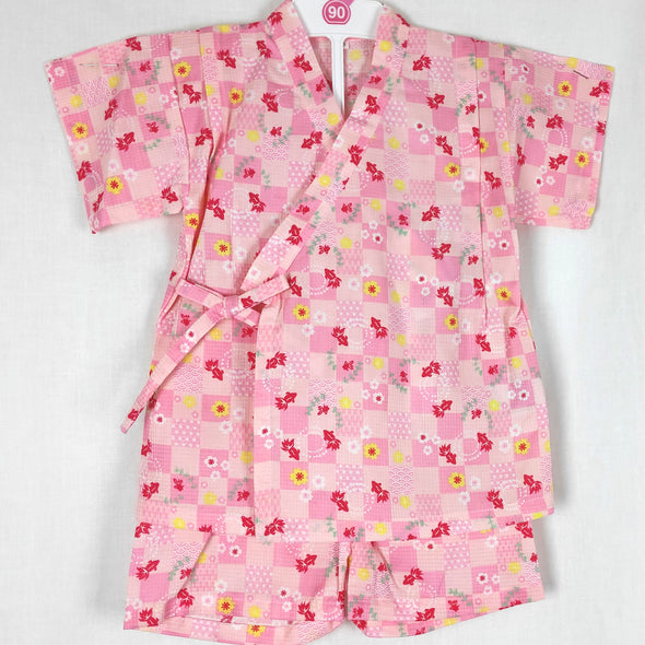 Girls 2pc Jinbei Goldfish design Pink