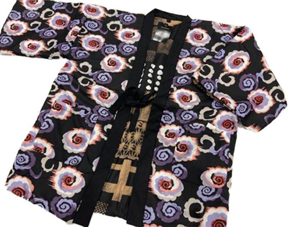 Japanese traditional warm Hanten coat Mens reversible - Pac West Kimono