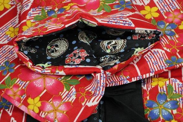 Japanese traditional warm Hanten coat. Womens reversible - Pac West Kimono
