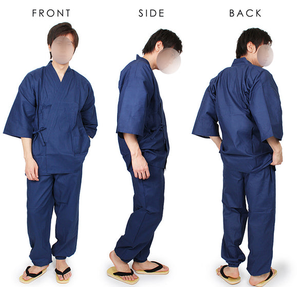 Japanese Samue Ultra Light 2pc lounge wear/ work wear set, top and pants  L-4L and Tall. Samurai kimono