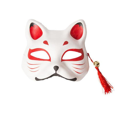 Mask Kitsune White with red - Pac West Kimono