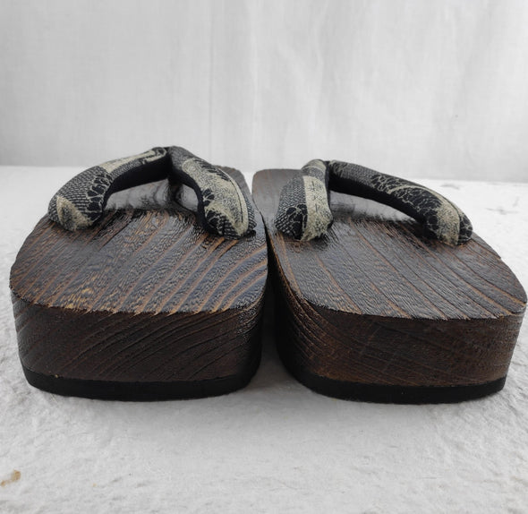 Mens Japanese Wood Geta Sandals 28cm. Samurai sandals - Pac West Kimono