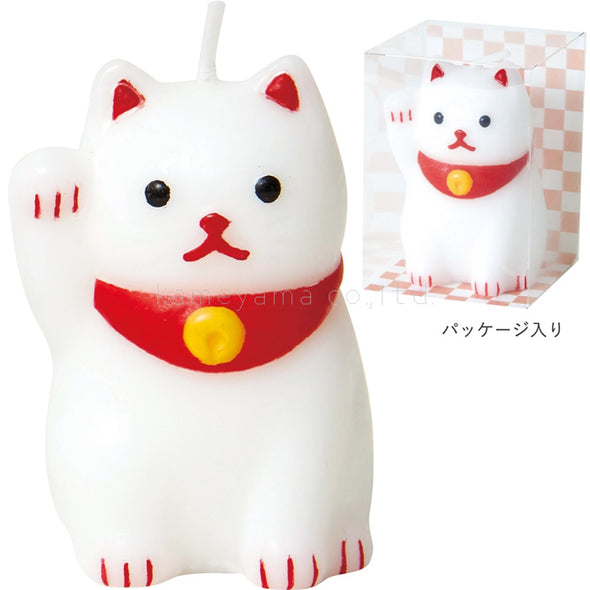 Cute lucky cat candle