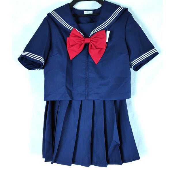 School Girl Uniform Navy Short Sleeve - Pac West Kimono