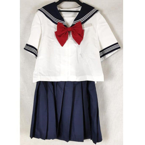 School Uniform White and Navy Short Sleeve - Pac West Kimono