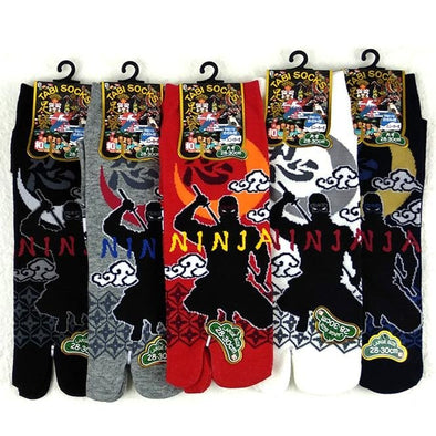 Split Toe Tabi Socks Ninja Large - Pac West Kimono