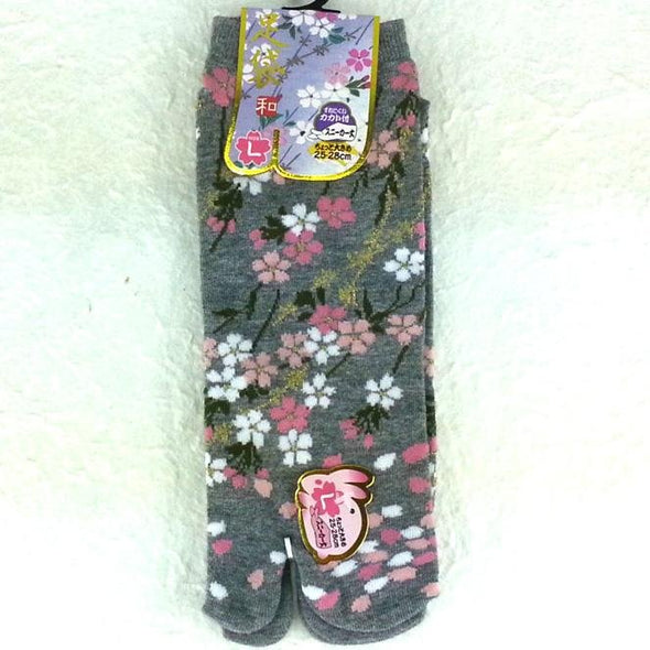 Split Toe Tabi Socks Sakura Cherry Blossoms Large - Pac West Kimono