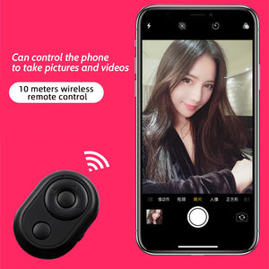 Hands Free Universal Bluetooth Remote Control for TikTok Youtube Ins ext. APP / E-Book Turn Page / Selfie Camera Shutter for iPhone iPad Samsung Mobile Phone