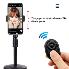 Load image into Gallery viewer, Hands Free Universal Bluetooth Remote Control for TikTok Youtube Ins ext. APP / E-Book Turn Page / Selfie Camera Shutter for iPhone iPad Samsung Mobile Phone