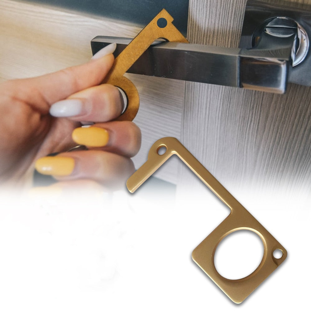 Non-Contact Isolation FingerKey Door Opener And Closing Key Chain Metal Material