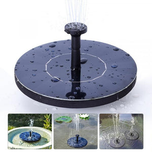Mini Solar Powered Fountain Garden Pool Pond Solar Panel Floating Fountain Garden Decoration Water Fountain