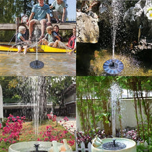 Load image into Gallery viewer, Mini Solar Powered Fountain Garden Pool Pond Solar Panel Floating Fountain Garden Decoration Water Fountain
