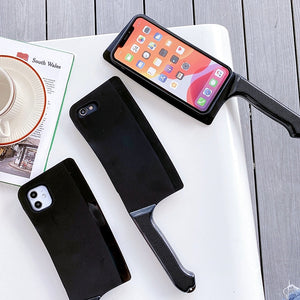 3D Cartoon Kitchen knife Phone Case For iPhone 11 Case SE 11Pro Max Xs Max 7 8 Plus Funny Kitchen Knife Shape Pattern Soft Cover