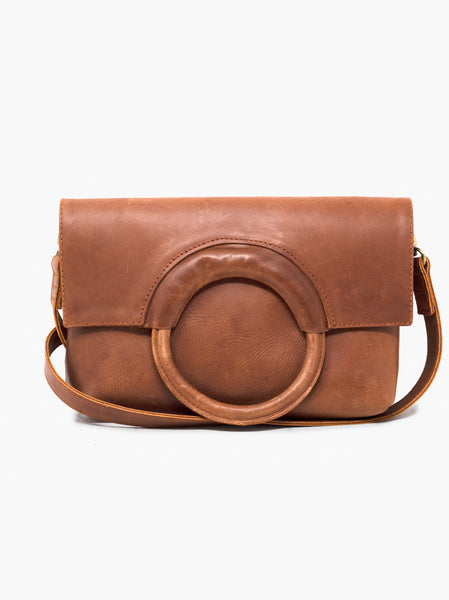 Able Fozi Ring Crossbody bag in Whiskey
