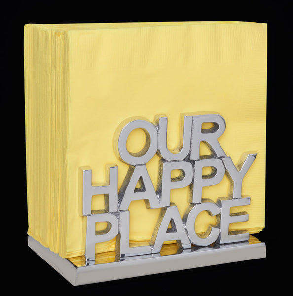 Inspired Generations OUR HAPPY PLACE Napkin Holder