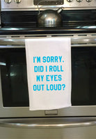Get Sassy Kitchen Dish Towels - Roll Eyes