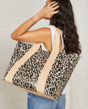 Consuela Mona Brown Leopard Large Carryall
