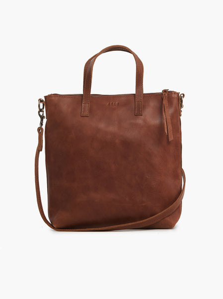 Able Abera Commuter Crossbody Tote in Whiskey