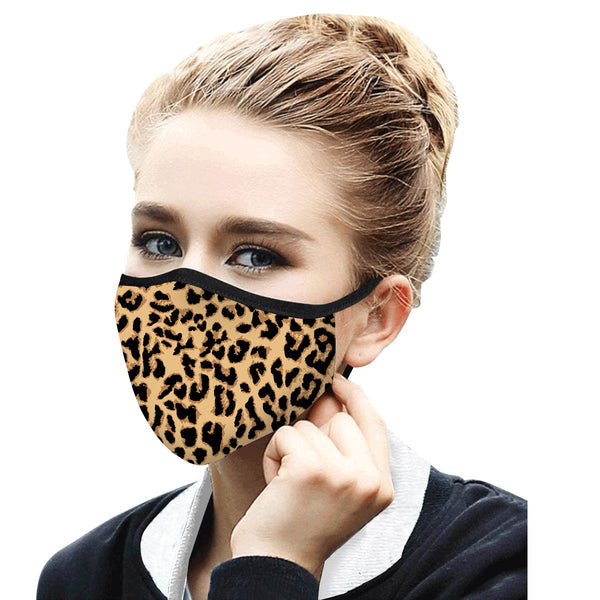 RAINCAPER LEOPARD REUSABLE FABRIC FACE MASK