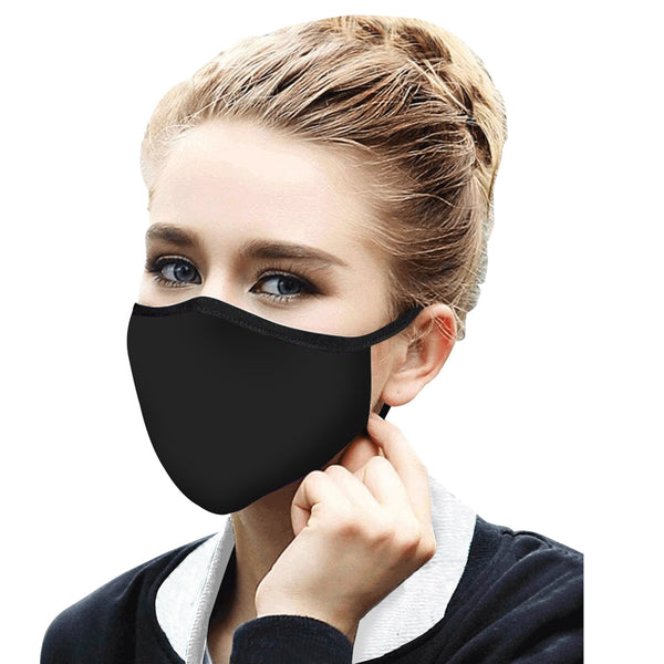 RAINCAPER BASIC BLACK REUSABLE FABRIC FACE MASK