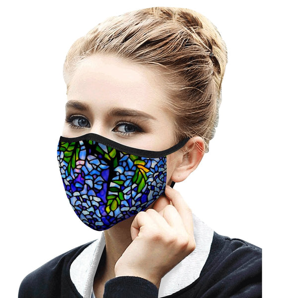 RAINCAPER TIFFANY WISTERIA REUSABLE FABRIC FACE MASK