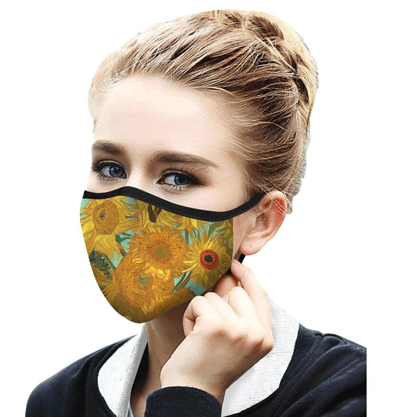 RAINCAPER VAN GOGH SUNFLOWERS REUSABLE FABRIC FACE MASK