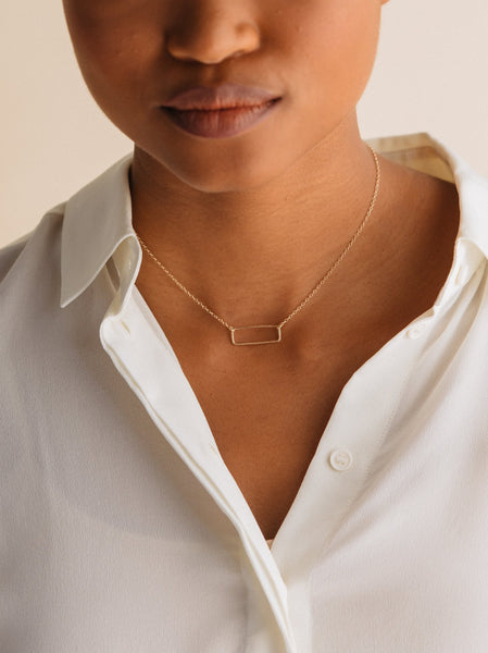 Able Floating Rectangle Necklace