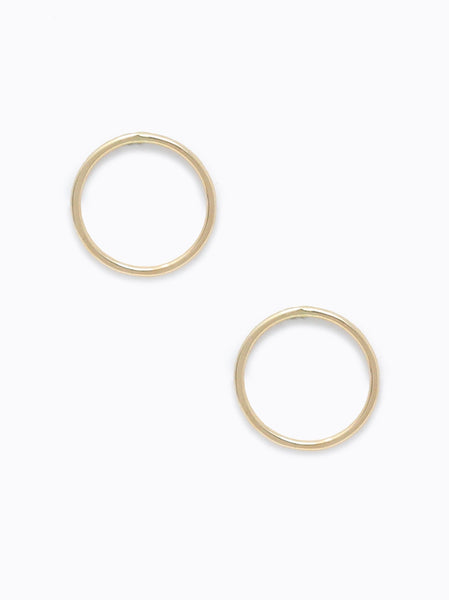 Able Hammered Circle Earrings