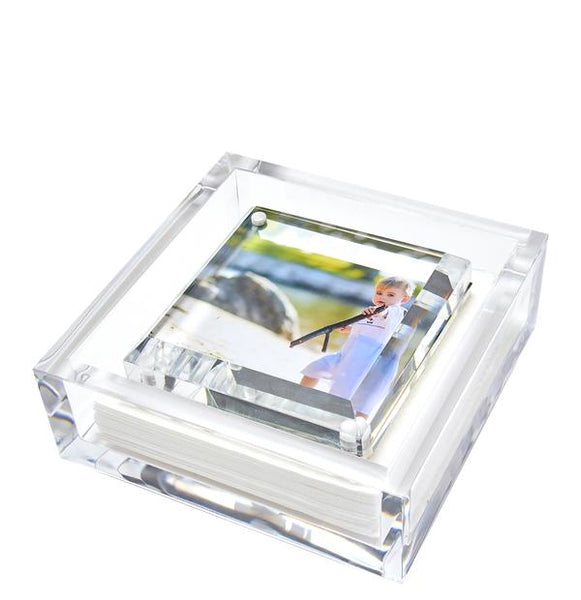 Tara Wilson Beveled Clear Cocktail Napkin Holder