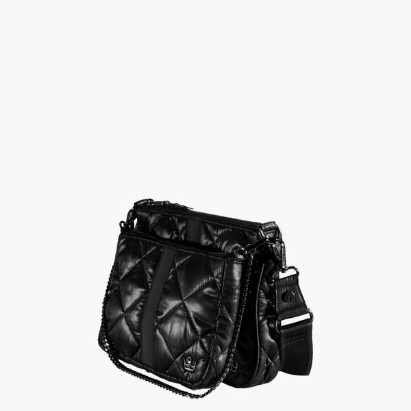 Oliver Thomas Double Trouble Crossbody Bag in Black