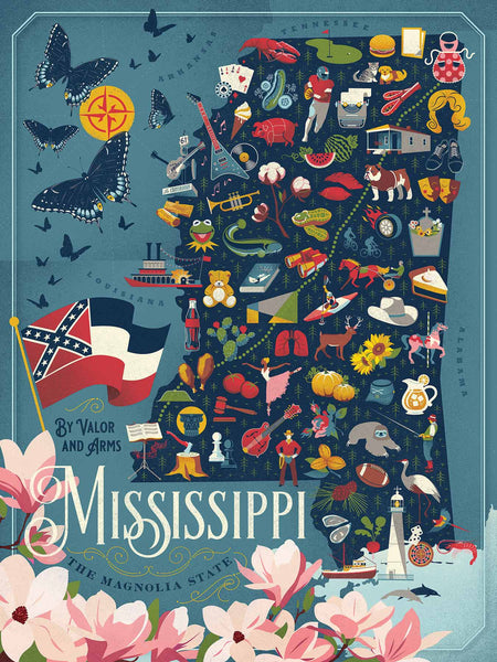 Mississippi State Map Puzzle
