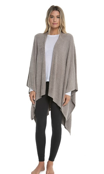 Barefoot Dreams CozyChic Weekend Wrap in Driftwood