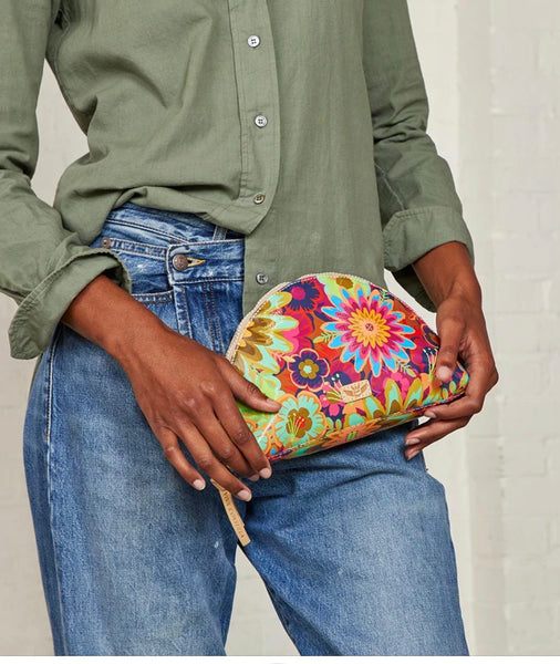 Consuela Large Cosmetic bag in Trista Busy Floral