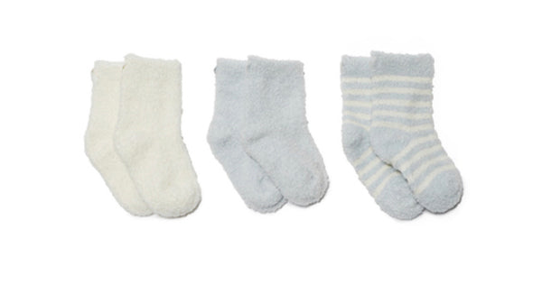 Barefoot Dreams COZYCHIC LITE® INFANT SOCK SET in Soft Blue