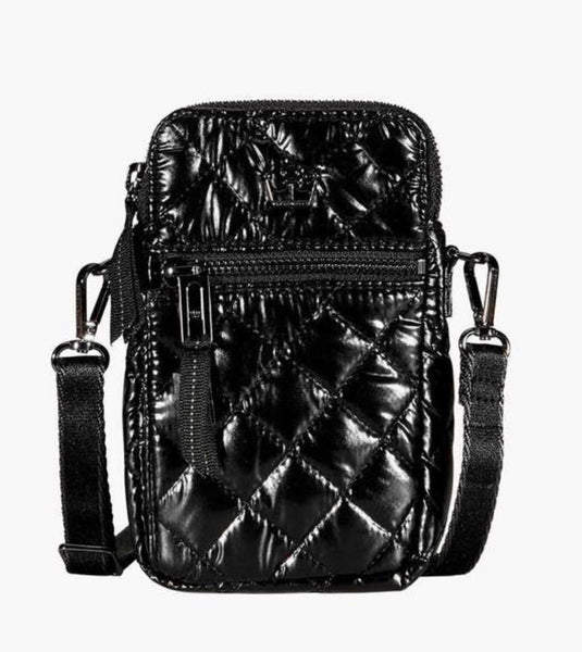 Oliver Thomas 24+7 Crossbody/Belt Bag in Dark Side Metallic