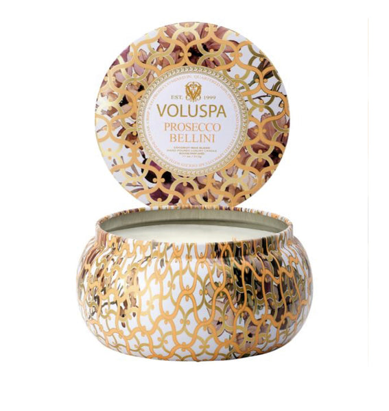 Voluspa Prosecco Bellini Petite Tin Candle